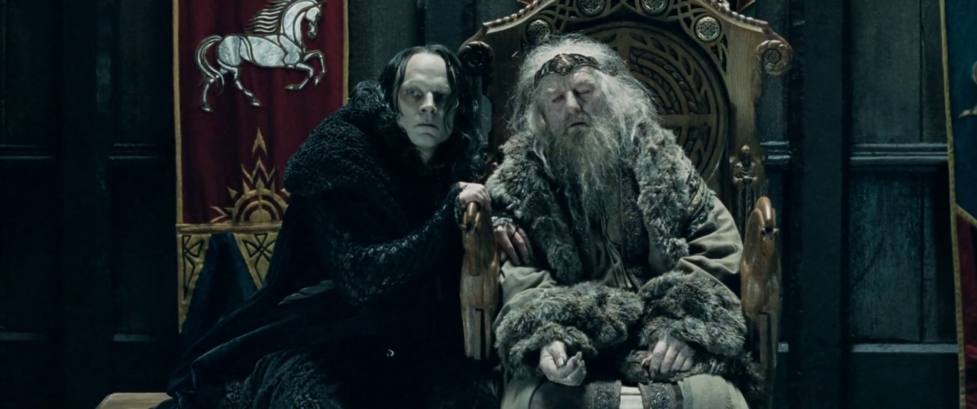 King Theoden and Grima Wormtongue