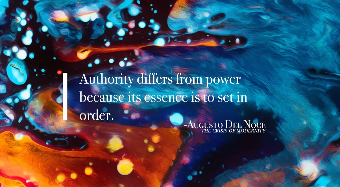 Authority versus power Augusto Del Noce